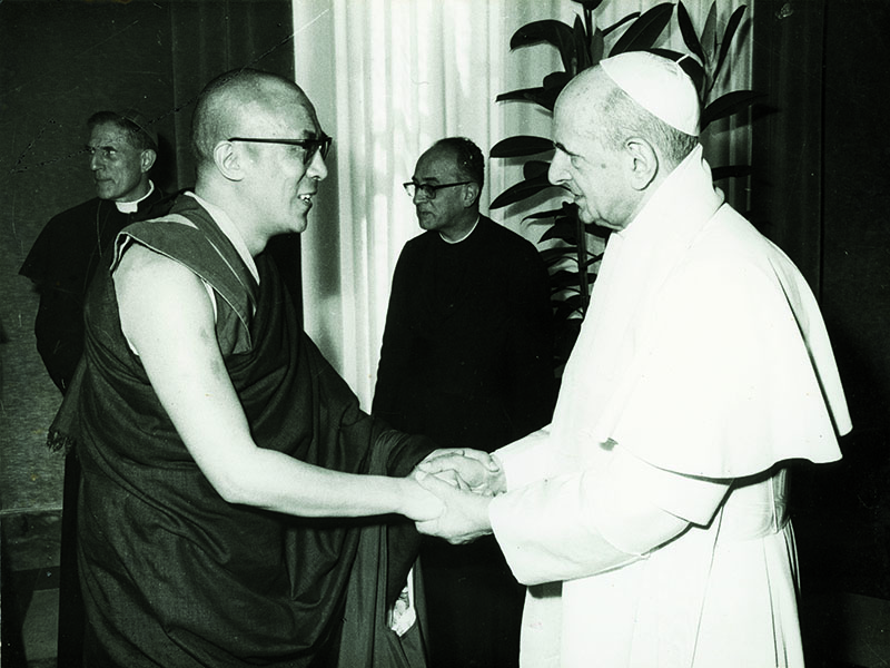 His Holiness the Dalai Lama meeting with Pope Paul V in Vatican City, 30 September 1973
