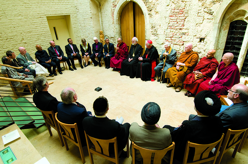 His Holiness the Dalai Lama meeting with the Representative of various religious and faith leaders at Lambeth Palace, London, 23 May 2008