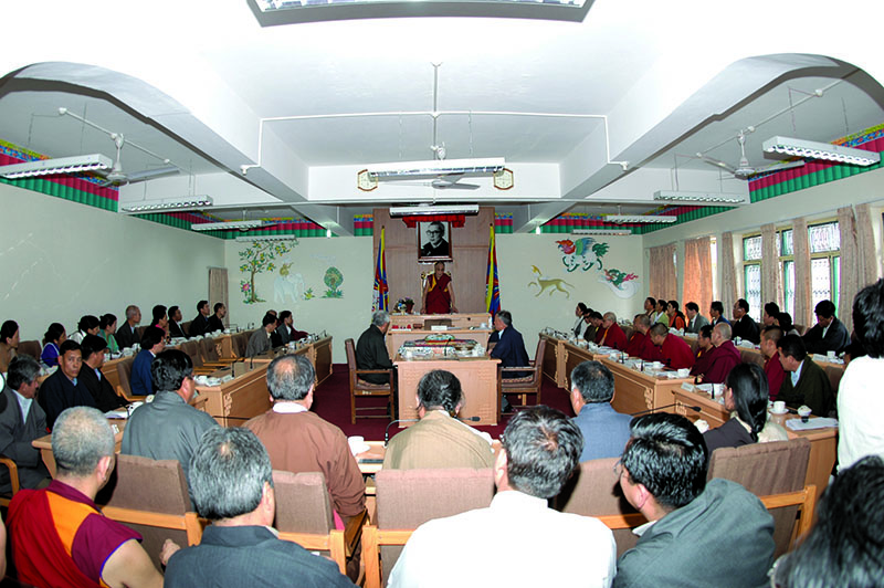 His Holiness the Dalai Lama addressing the Tibetan Parliament-in-Exile, Dharamshala, 2000s