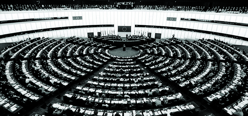 His Holiness the Dalai Lama addressing the European Parliament, Strasbourg, France, 24 October 2001