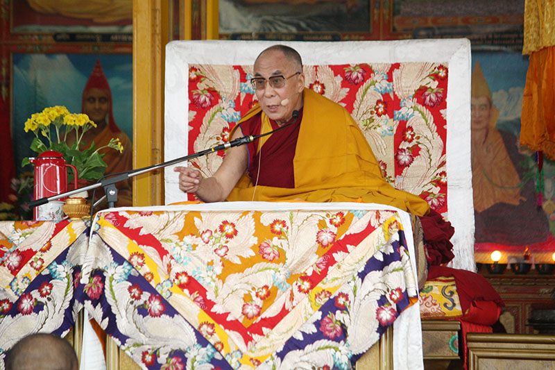 His Holiness the Dalai Lama making the first official remark on his retirement from political responsibilities during a public teaching at the Main Temple (Tsuglagkhang), Dharamshala, 19 March 2011