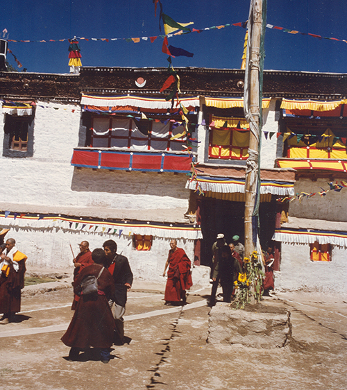 His Holiness the Dalai Lama's visit to Sani monastery during a visit to Ladakh in 1988