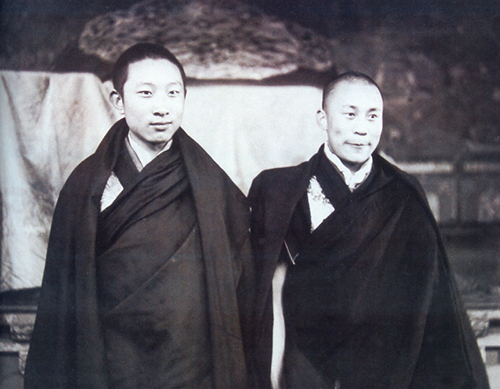 His Holiness the Dalai Lama with the10th Panchen Lama, 1950's