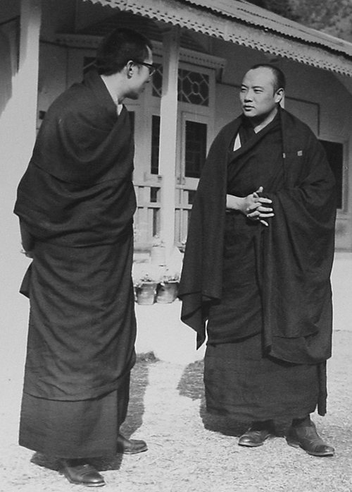 His Holiness the Dalai Lama with the XVI Karmapa, 1964