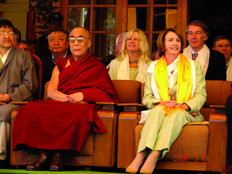 His Holiness the Dalai Lama meeting with US House Speaker Nancy Pelosi, Dharamshala, 21 March 2008