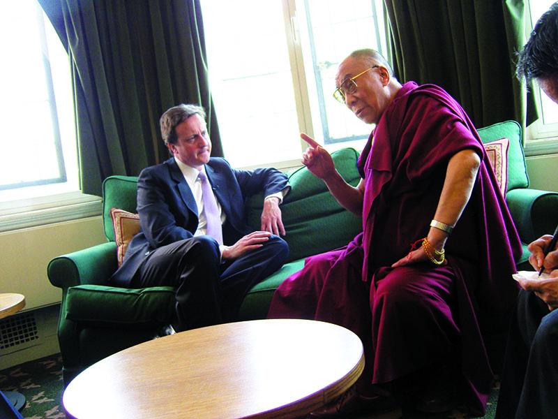 His Holiness the Dalai Lama with US Secretary of State Hillary Clinton, Washington DC, 18 February 2010