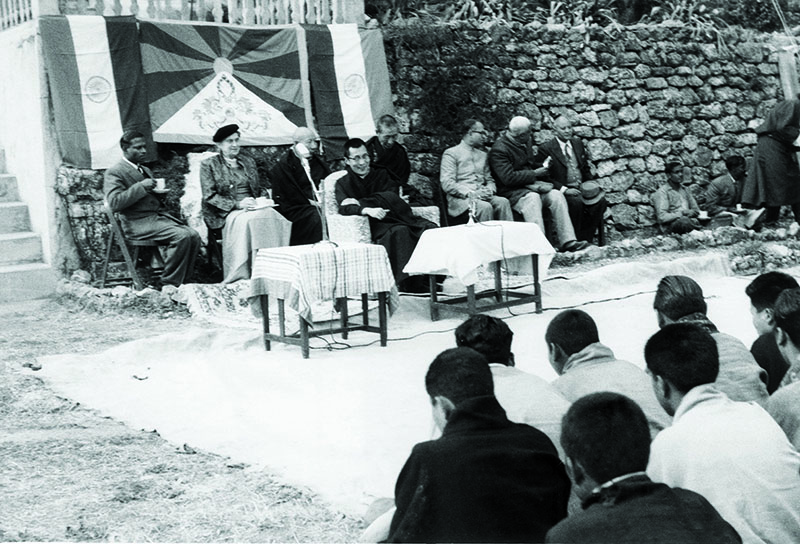 His Holiness the Dalai Lama, during the inauguration function of the first Tibetan school in Mussoorie, 3 March 1960
