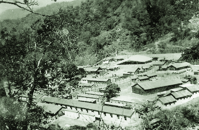 Buxar Choegar (Dharma Center), the first monastic facility established in 1959 by Tibetan refugees after coming to exile in India
