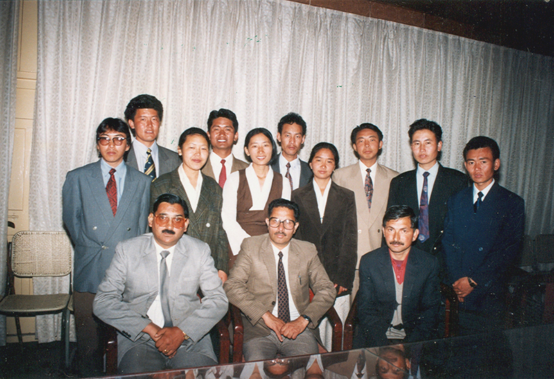 Participants of the six-month Audit General training in Shimla, 1995-1996