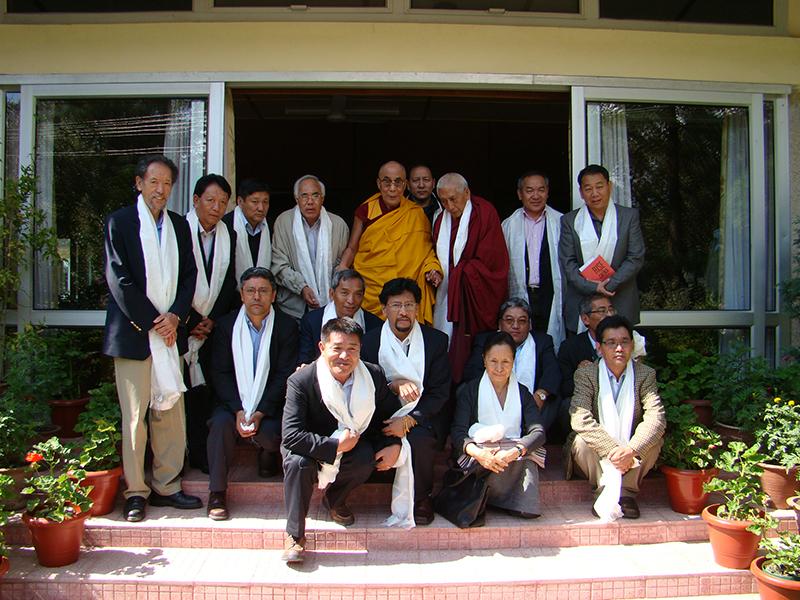 His Holiness the Dalai Lama with His Representatives and the Kalon Tripa at His residence. 15 October, 2009 Dharamsala