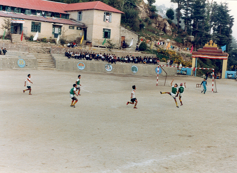 Football match during inter-school zonal meet at CST Dalhousie, 1993