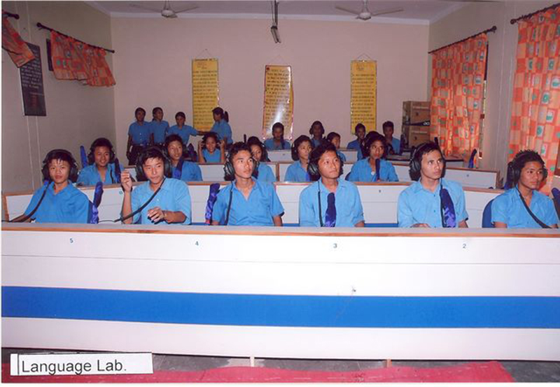Language Lab at Central School for Tibetans, Paonta Sahib, 2008