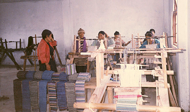 Apron Weaving Centre at Ravangla Sikkim