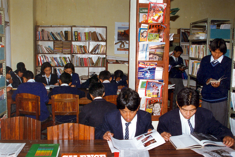 Library of Namgyal High School, Nepal