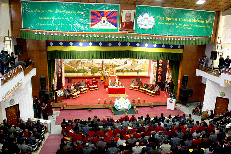 A six-day special general meeting was convened by the office of the parliamentarian secretariat under the article 59 of the Charter of the Tibetan people at TCV hall, Dharamshala, from 17 – 22 November,2008