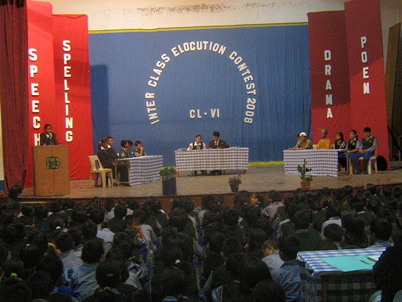 Inter-class Elocution Contest at Tibetan Children's Village School, Chauntra, 2008