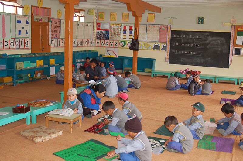 A classroom of a primary School in TCV School, Ladakh
