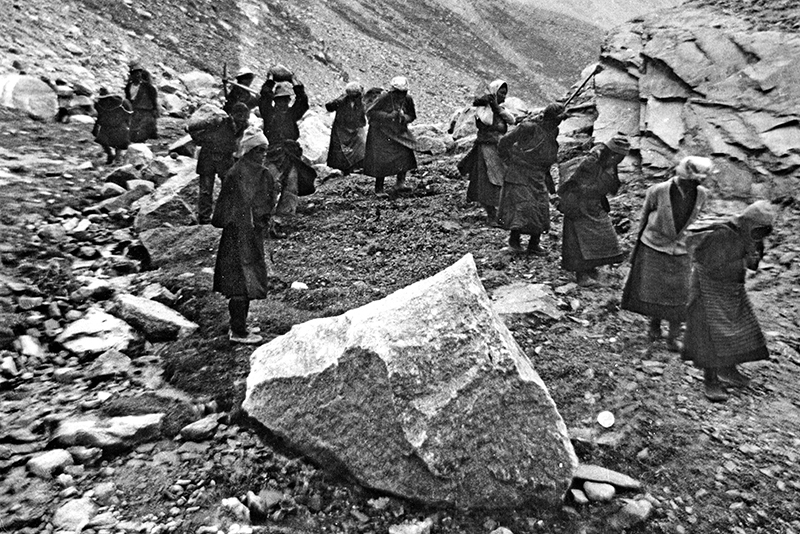 Tibetan road workers  in northern India 1960's
