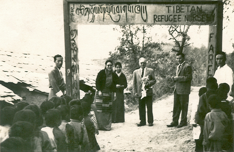 Tibetan Refugee Nursery,  under the care of His Holiness' elder sister Tsering Dolma, later known as Tibetan Children's Village School. Dharamsala, HP 1960s