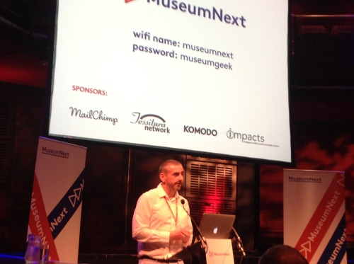 Jim Richardson, founder of MuseumNext, welcoming delegates to the conference.