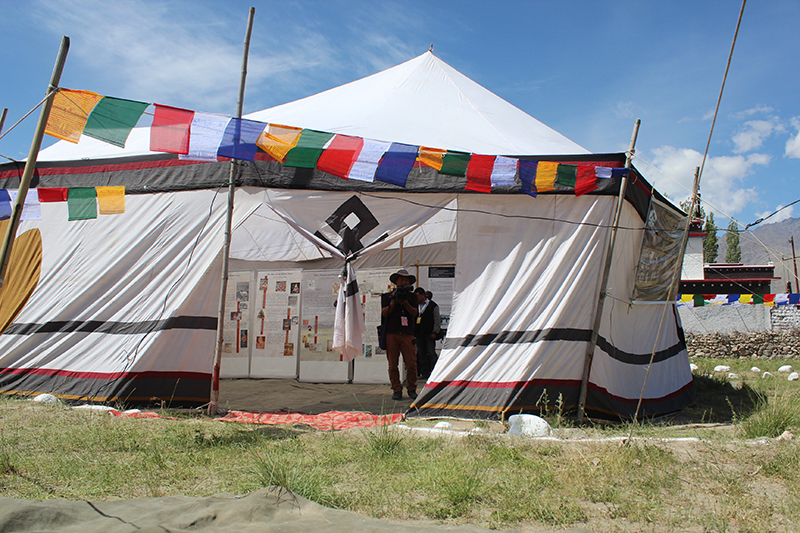 The Tibet Museum photo exhibition at Ladakh.