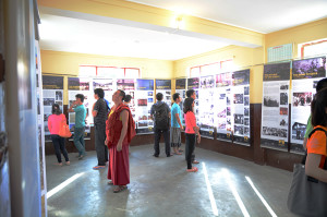 Visitors at Tibet Museum's exhibition at Kullu, HP