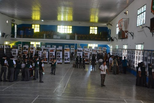 Tibet Museum's exhibition at Rajpur Tibetan Homes school.