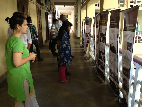 Visitors at Tibet Museum's two-day exhibition at Madras University, Chennai