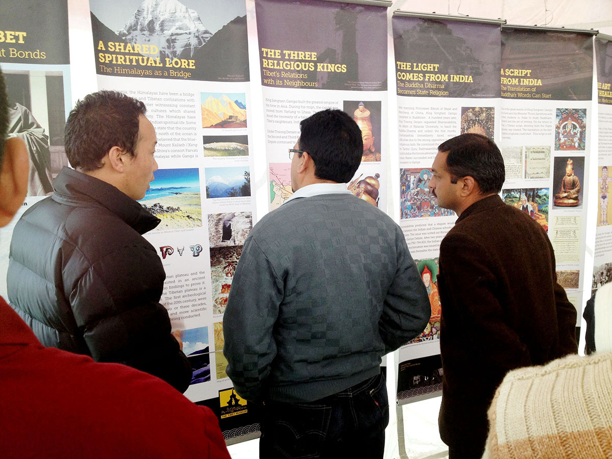 Mr Gopal Chand, Additional Deputy Commissioner, visits a three-day exhibition on Tibet organised by the Tibet Museum in Mandi
