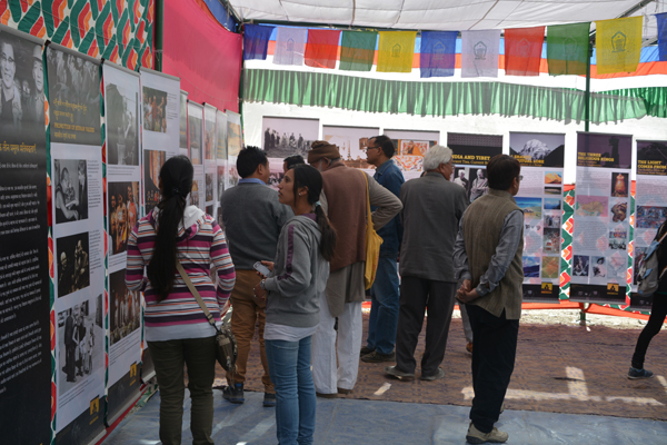 Visitors at Tibet Museum's exhibition (File Pic)