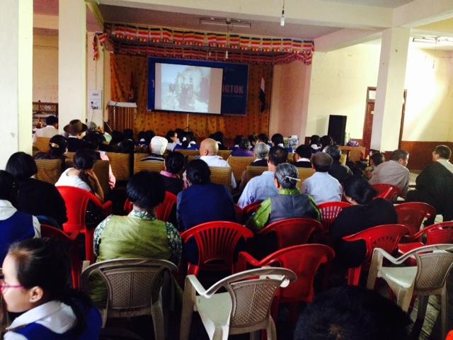 Documentary screening at the Chol Sum hall, Gangtok