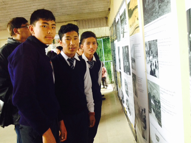 Students of C.S.T Darjeeling at the exhibition site in Chowrasta