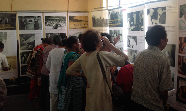 Visitors at the Tibet Museum's exhibition.