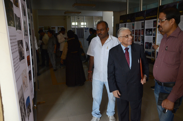 Dr. N.K Trikha, Convener of the Core Group for Tibet, India at the photo exhibition by Tibet Museum, Guwahati.