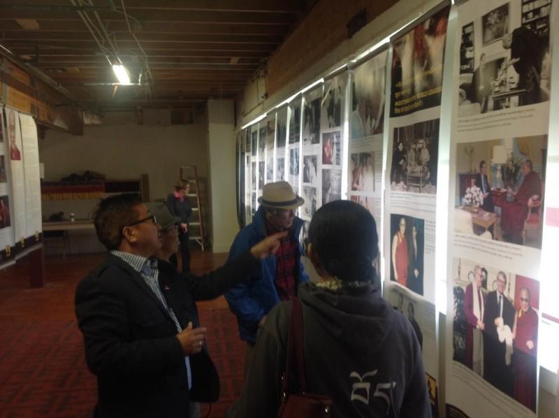 Mr. Tashi Phuntsok, Director of Tibet Museum, at the exhibition.