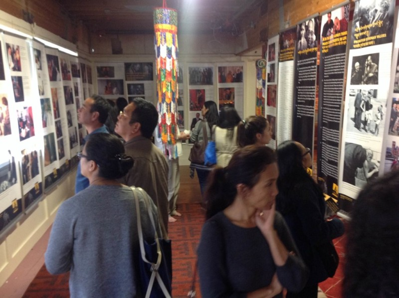 Visitors at Tibet Museum's exhibition at San Francisco Bay Area.