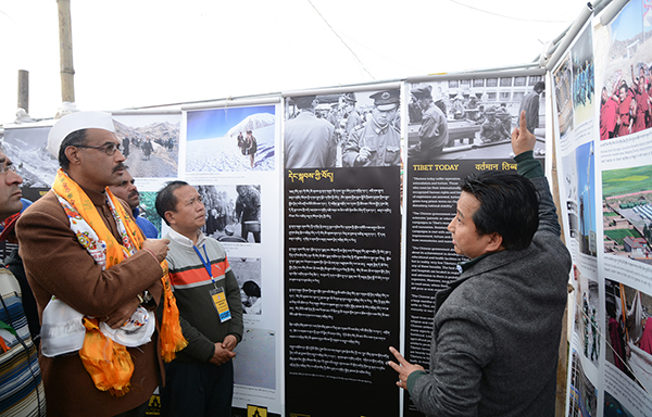 Shri Ravi Thakur, MLA from Lahaul Spiti, Himachal Pradesh at Tibet Museum's photo exhibition