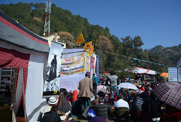 Thousands of Tibetans and Himalayan devotees receiving initiation from His Eminence the Sakya Trizin Rinpoche during the last day of the Tsechu Festival, February 18, 2016
