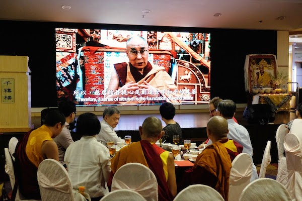 A special video message from His Holiness the Dalai Lama for the devotees from Singapore was also screened during the event.