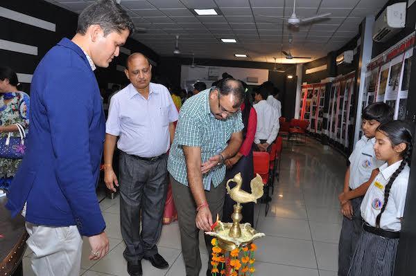 Shri Amit Mahajan ji, SDM of Pathankot Dr Amit Mahajan ji, SDM of Pathankot inaugurating the last day exhibition at Pathankot.