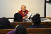 Deputy Speaker Acharya Yeshi Phuntsok speaking on the current situation inside Tibet at the bimonthly Tibet awareness talk organised by the Tibet Museum today, 24 August 2016.