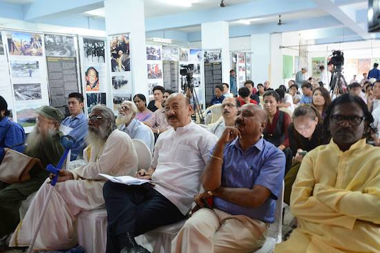 National Convener of Core group for Tibetan Cause-India, Shri R K Khrimey, and other Indian dignitaries present at the public discussion on Tibet, 12 September 2016.