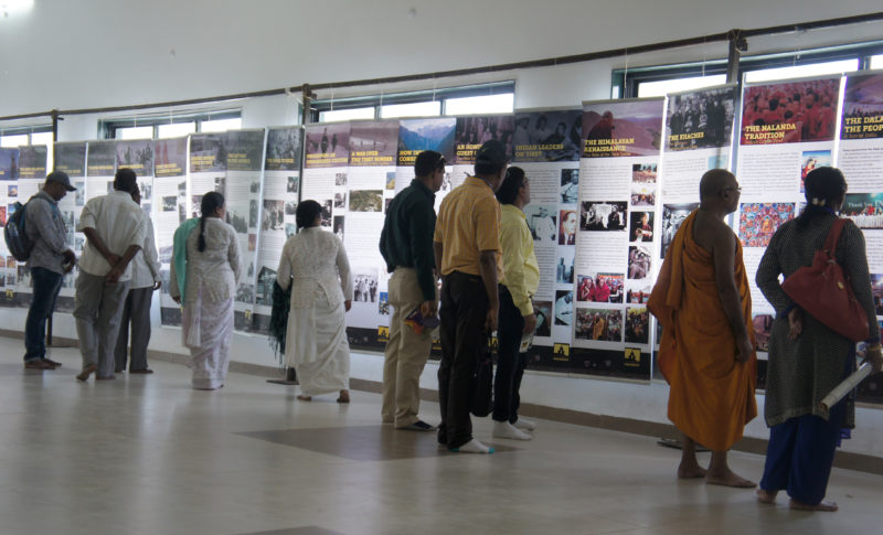 Visitors at the photo exhibition showcased by Tibet Museum on 'Indo-Tibet Relations.'