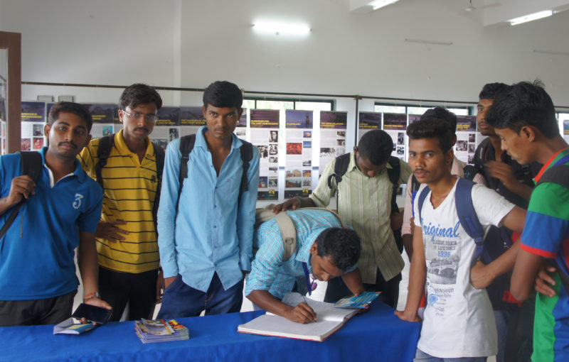visitors at the Tibet Museum's exhibition, Nagpur