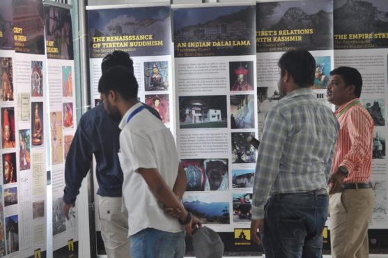 Tibet Museum's exhibition at the the Thank You India Program in Nagpur.