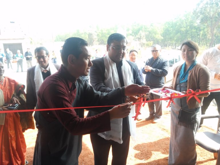 The Chief Guest, Sh Ujjawal Porwal, the Deputy Collector, Mainpat with Mainpat Tibetan Settlement Officer Mr Dawa inaugurating the three-day photo exhibition on 10 February 2017.