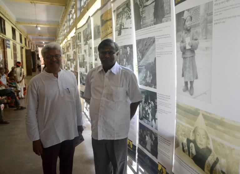 Dr Ramumanivanan and Registrar of Madras University at Tibet Museum.