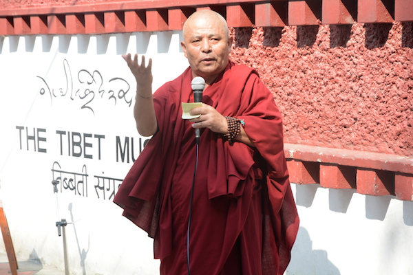 Deputy Speaker Acharya Yeshi Phuntsok addressing the closing ceremony of Tibet Museum's two-day International Musuem day celebration, 19 May 2017.