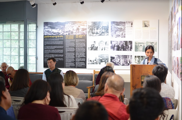 Secretary Dhardon Sharling, Department of Information and International Relations delivering the vote of thanks, Tibet Museum, 9 June 2017. Photo/Tenzin Ramjam/Tibet Museum