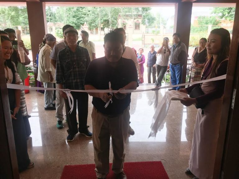 Ribbon cutting cum inauguration of the exhibition by Mr. Dorjee Rinzin, Settlement Officer of Rabgayling Settlemen, Hunsur.